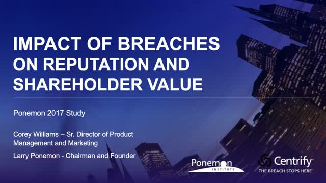 The Impact of a Data Breach on Share Value, Churn & Reputation. Ponemon Research