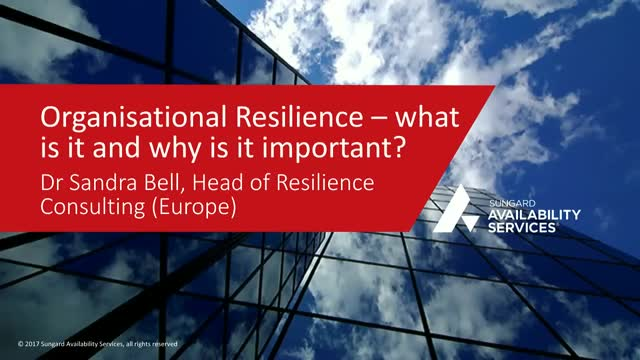 Organisational Resilience: What is it and why is it important?