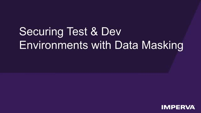 Secure Your Test & Dev Everywhere, Cloud or On-Prem