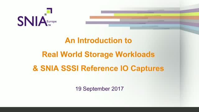 Understanding Real World Storage Workloads