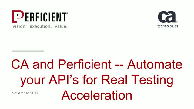 Automate your APIs for Real Testing Acceleration