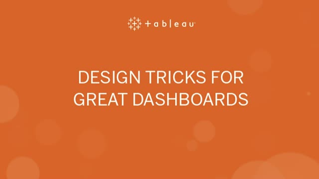 Design tricks for great dashboards