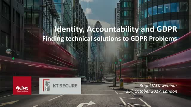 Identity, accountability and GDPR - Where IAM fits in the GDPR puzzle