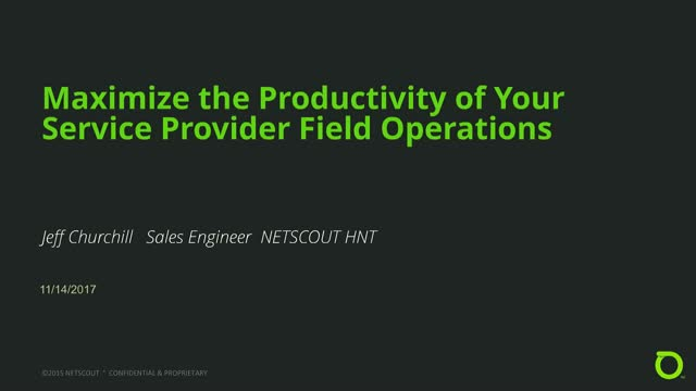 Maximize the Productivity of Your Service Provider Field Operations