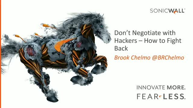 Don't Negotiate with Hackers – How to Fight Back
