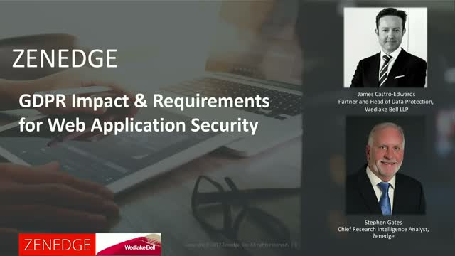GDPR Impact & Requirements for Web Application Security
