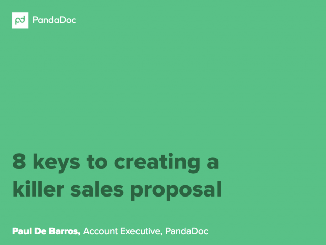 8 keys to creating a killer sales proposal