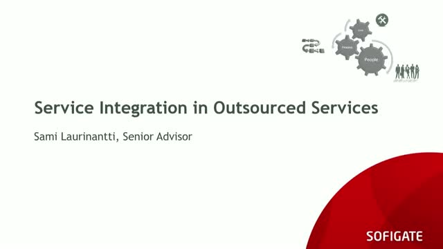 Service Integration in Outsourced Services