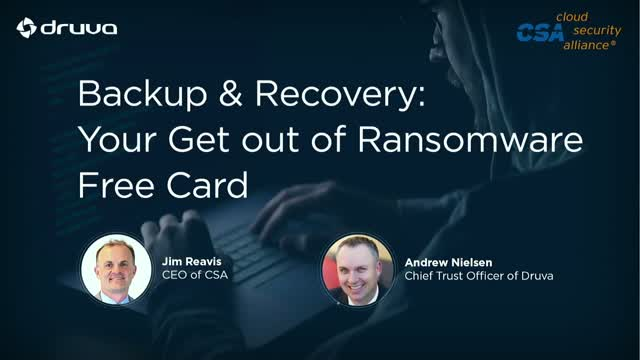 Backup & Recovery: Your Get out of Ransomware Free Card