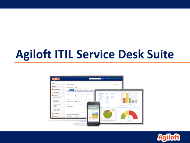 Agiloft ITIL Service Desk Suite - Short Demo