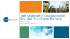 Take Advantage of Cloud Backup to Kick-Start Your Disaster Recovery