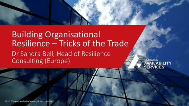 Building Organisational Resilience - Tricks of the Trade