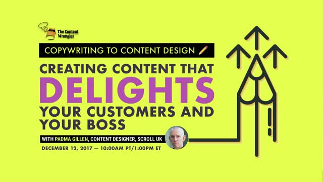 Copywriting to Content Design: Creating Content That Delights