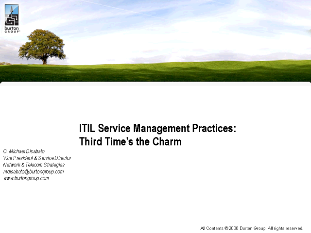 ITIL Service Management Practices: Third Time's the Charm