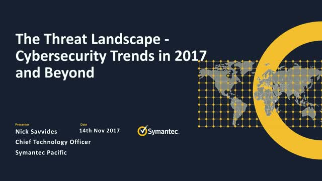 The Threat Landscape – Cybersecurity Trends in 2017 and Beyond