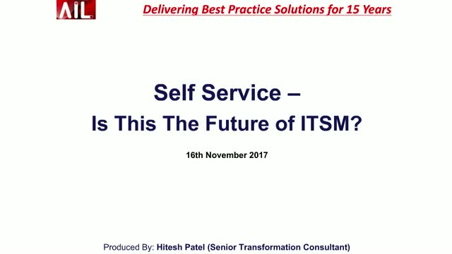 Self-Service - Is this the future of ITSM?