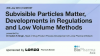 Subvisible Particles Matter, Developments in Regulations and Low Volume Methods
