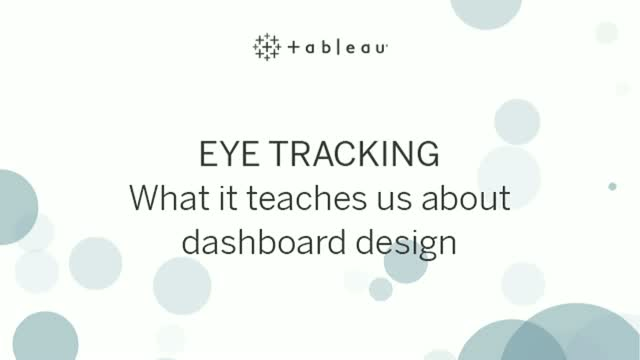 Eye Tracking: What it teaches us about dashboard design