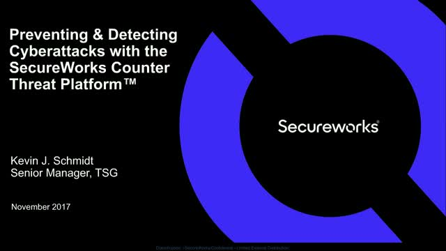Preventing/Detecting Cyberattacks with the SecureWorks Counter Threat Platform™