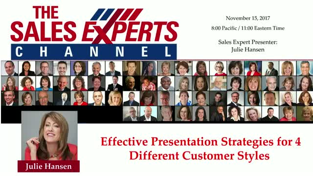 Effective Presentation Strategies for 4 Different Customer Styles