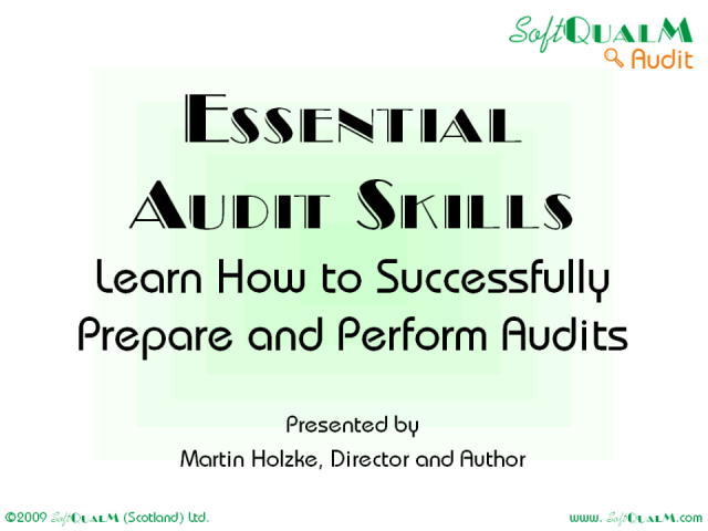 Learn How to Successfully Prepare & Perform Audits