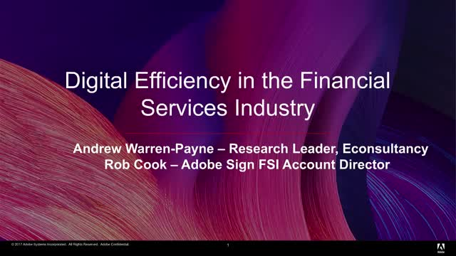 Digital Efficiency in the Financial Services Industry