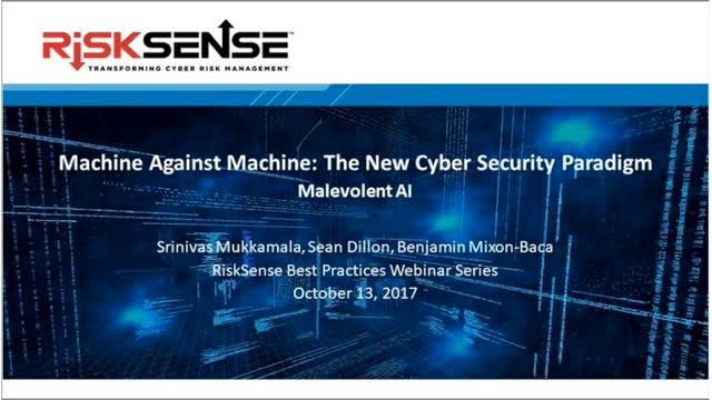 Machine Against Machine: The New Cyber Security Paradigm