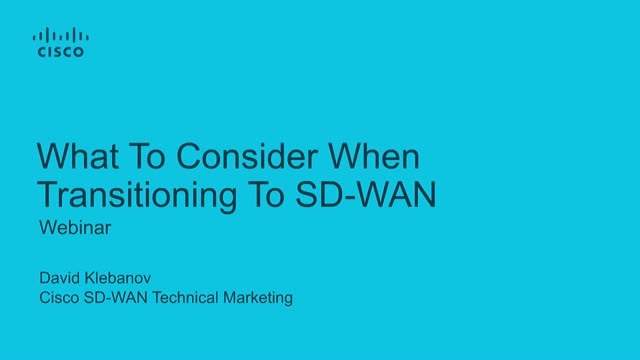 What to Consider When Transitioning to SD-WAN