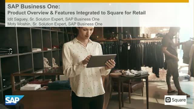 SAP Business One:Product Overview & Features Integrated to Square for Retail