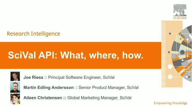 SciVal API :: What is it & how can I use it