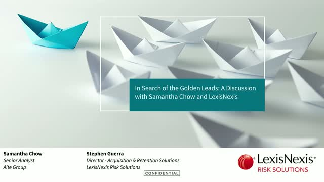 In Search of the Golden Leads: A Discussion with Samantha Chow and LexisNexis