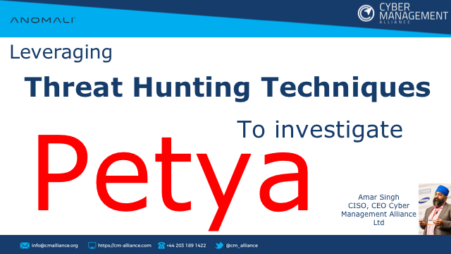 Leveraging Threat Hunting Techniques To Investigate Petya