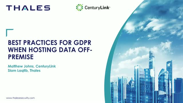 Best Practices for GDPR when hosting data off-premises