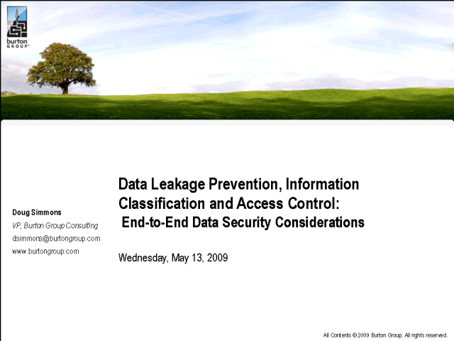 Data Leakage Prevention, Classification and Access Control