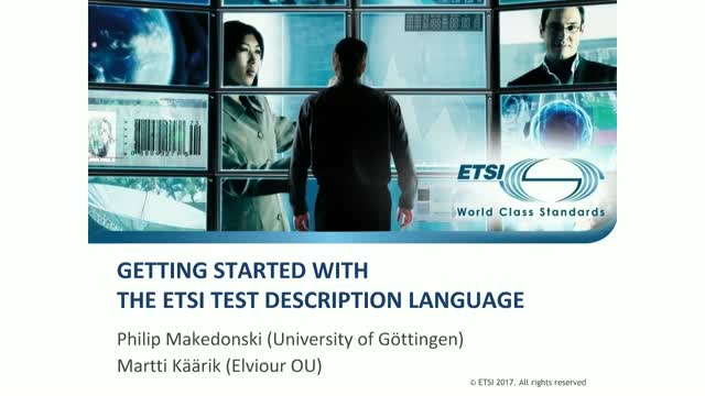 Getting started with ETSI Test Description Language