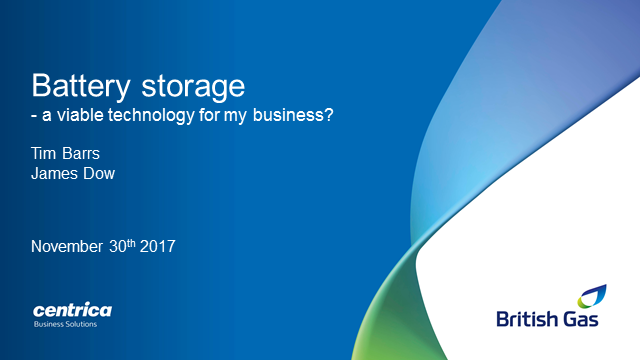 Is battery storage a viable technology for my business?