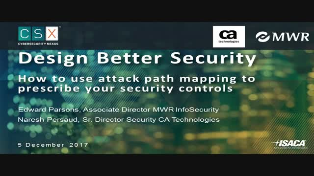 How to Use Attack Path Mapping to Prescribe Security Controls. Hosted by ISACA