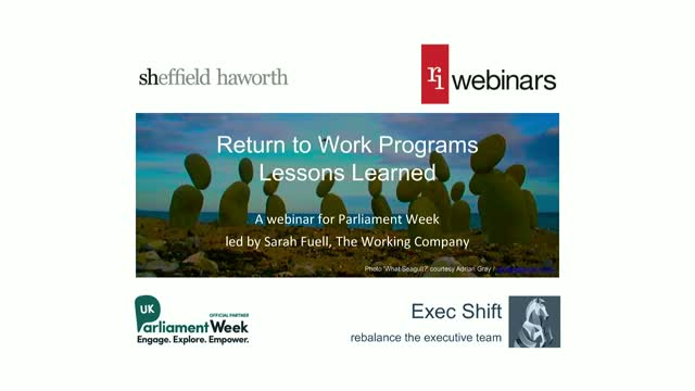 Lessons learned from return to work programmes