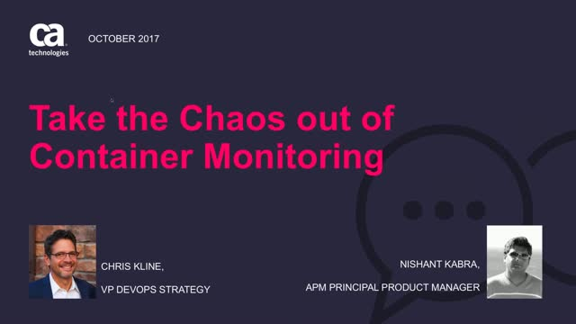 Take the Chaos out of Container Monitoring