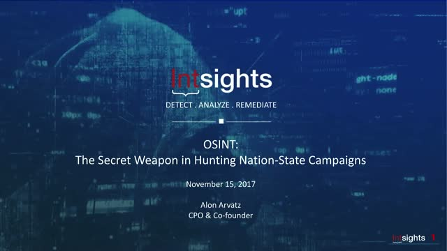 OSINT: The Secret Weapon in Hunting Nation-State Campaigns