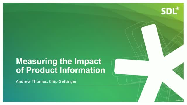 Measuring the Impact of Product Information