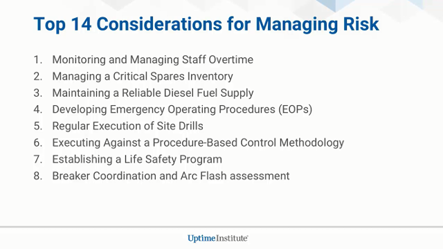 Top Considerations for Addressing Data Center Facilities Management Risks
