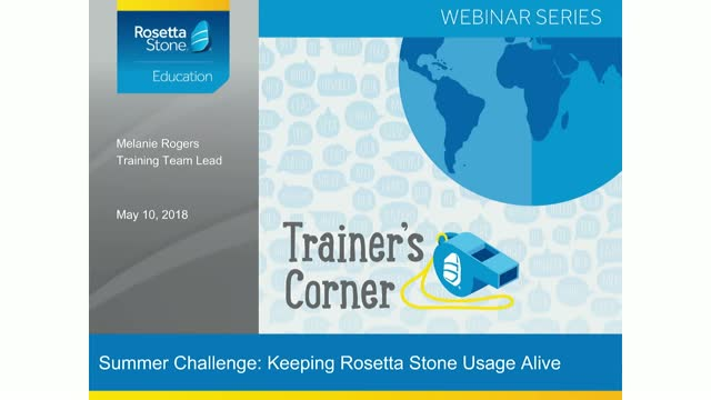 Let's Wrap This Year: Keep Rosetta Stone Alive Over the Summer