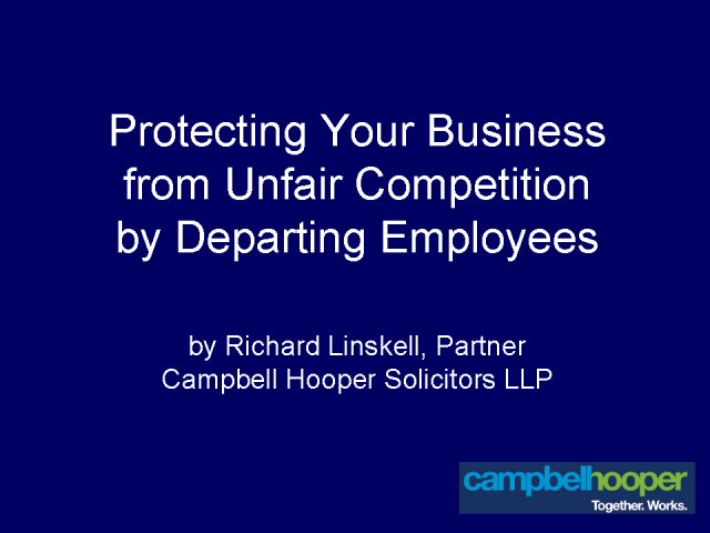 Protecting your business from departing employees -UK perspective
