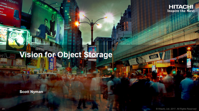 Hitachi Vantara's Vision for Object Storage