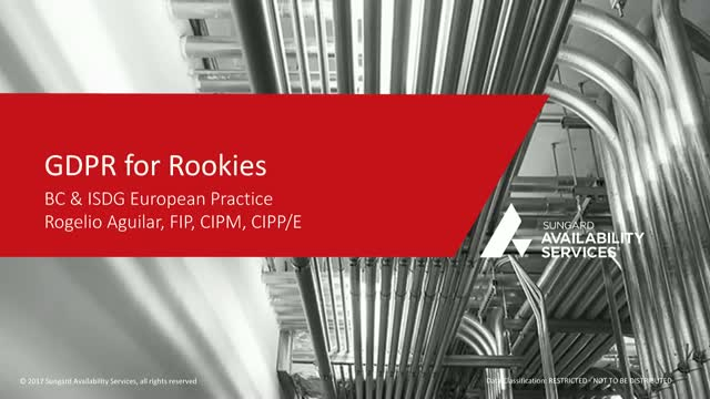 GDPR for Rookies
