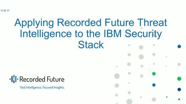 Applying Recorded Future Threat Intelligence to the IBM Security Stack