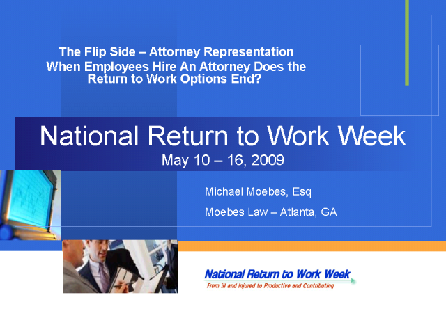 The Flip Side: Attorneys and Return to Work