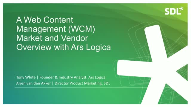 A Web Content Management (WCM) Market and Vendor Overview with Ars Logica