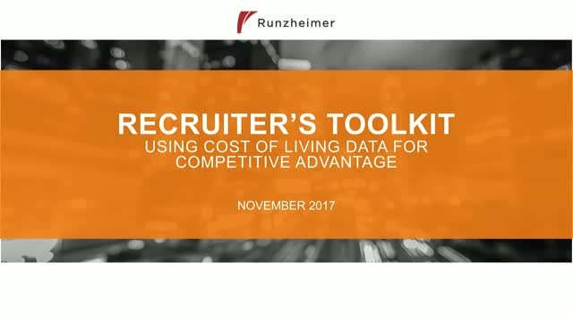 RECRUITER'S TOOLKIT: Using Cost of Living Data for Competitive Advantage